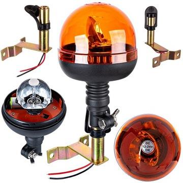 Lampa ostrzegawcza kogut z uchwytem L przewód