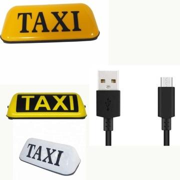 Lampa Kogut Światło Taxi Uber Bolt Led Wtyczka USB
