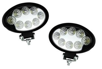 LAMPA LED ROBOCZA 8 LED OWALNA HALOGEN 12-24V PARA