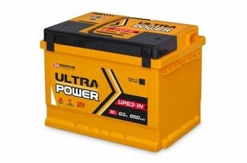 Akumulator Ultra Power 12V 63Ah 650A Mocna Ukraina