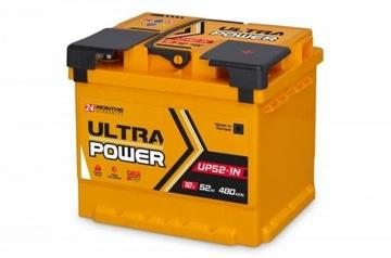 Akumulator Ultra Power 12V 52Ah 480A Mocna Ukraina
