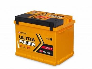 Akumulator Ultra Power 12V 61Ah 620A Mocna Ukraina