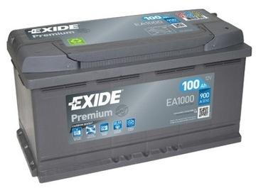 Akumulator EXIDE Premium 100Ah 900A P+ 3 lata Gwa