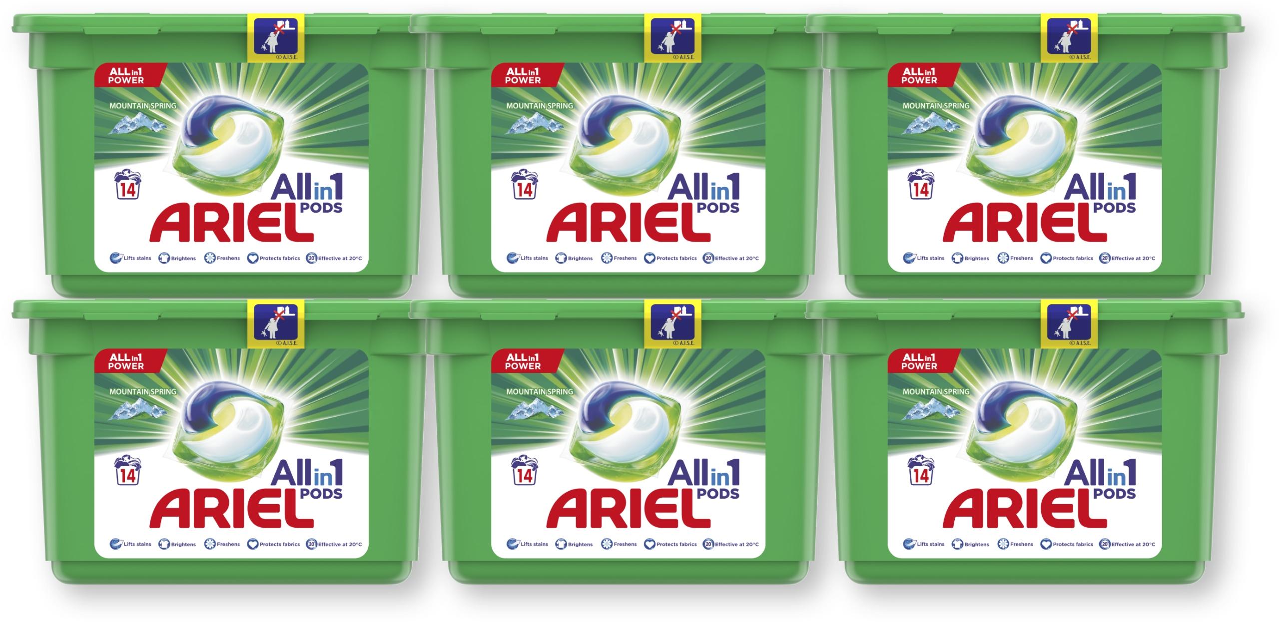 Ariel kapsułki do prania Mountain Spring 6x14 szt