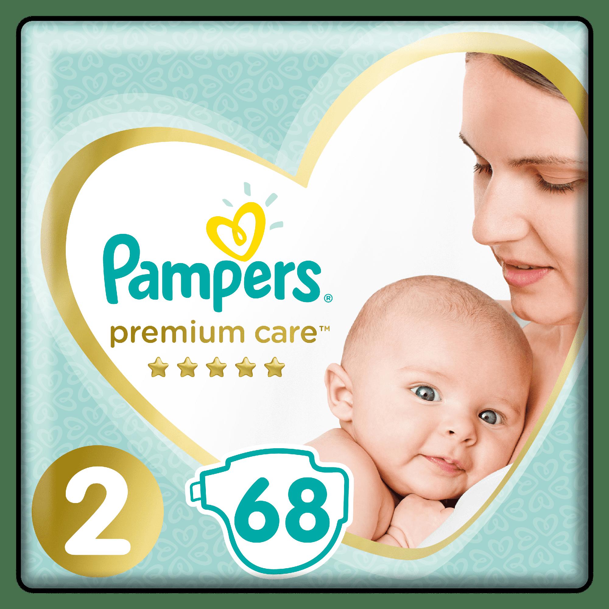 PAMPERS Premium Care 2 Mini 68 подгузников
