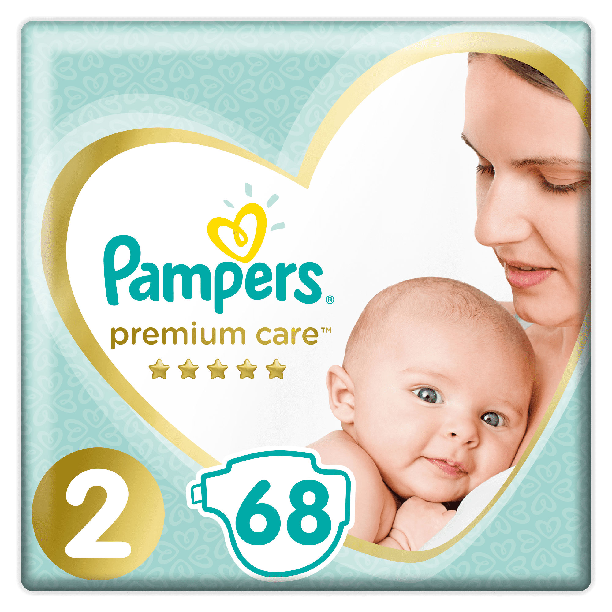 PAMPERS Premium Care 2 Mini 68 подгузников