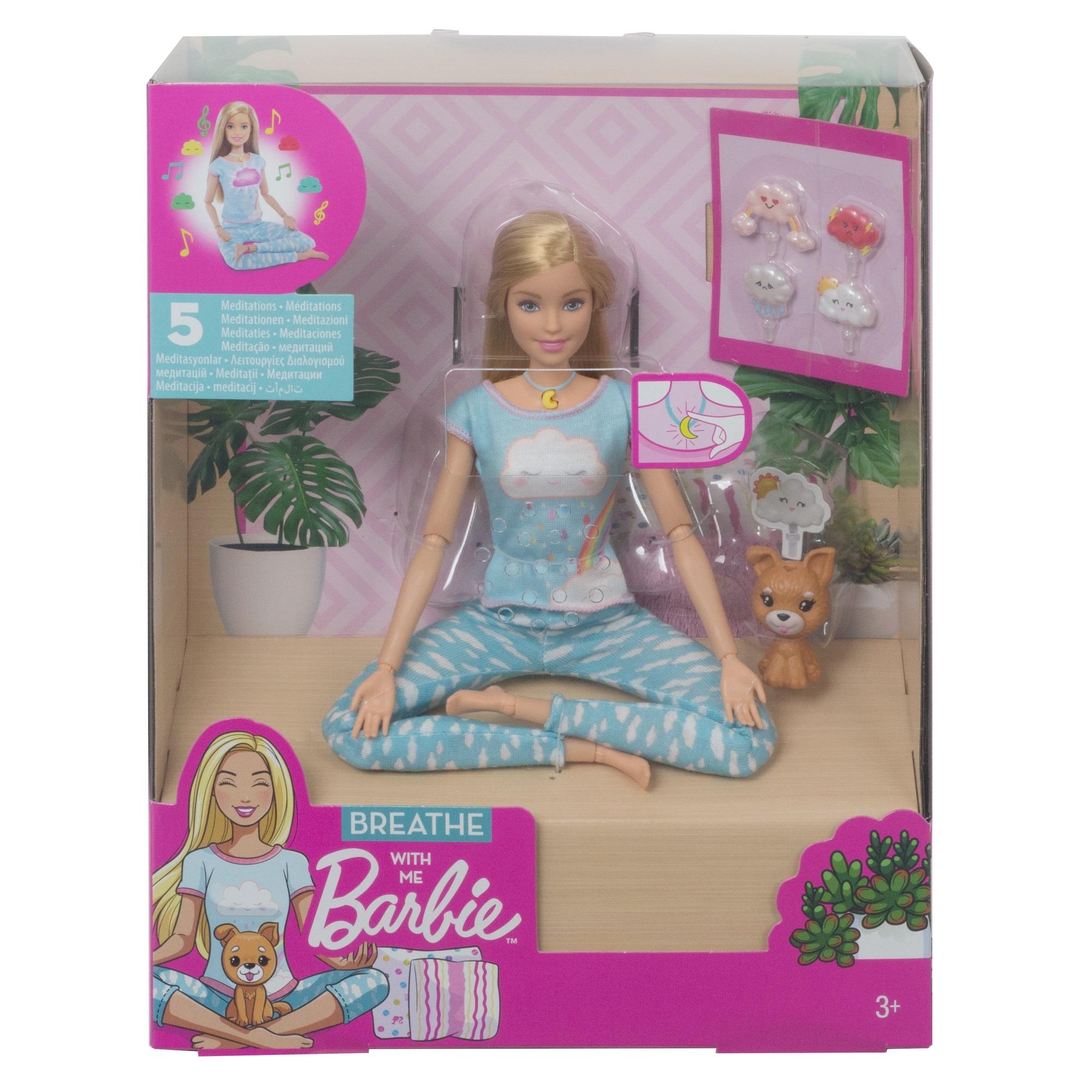 BARBIE Meditujúca bábika so zvukmi GNK01