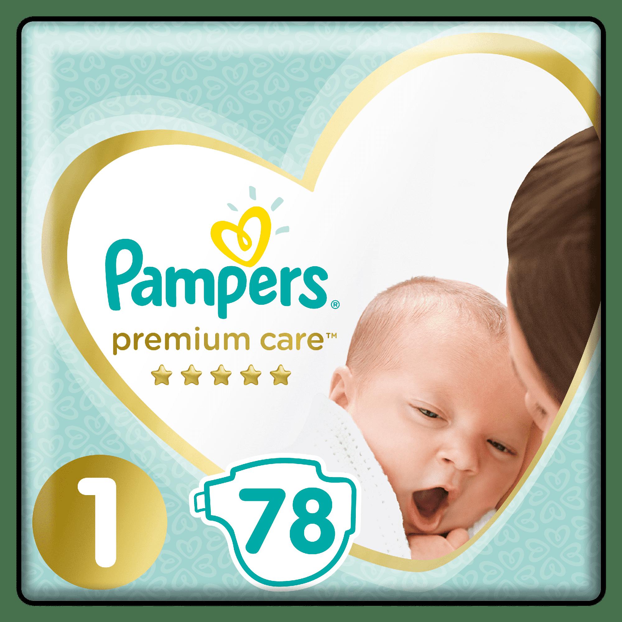Pampers Premium Care 1 Newborn 78 pieluszek