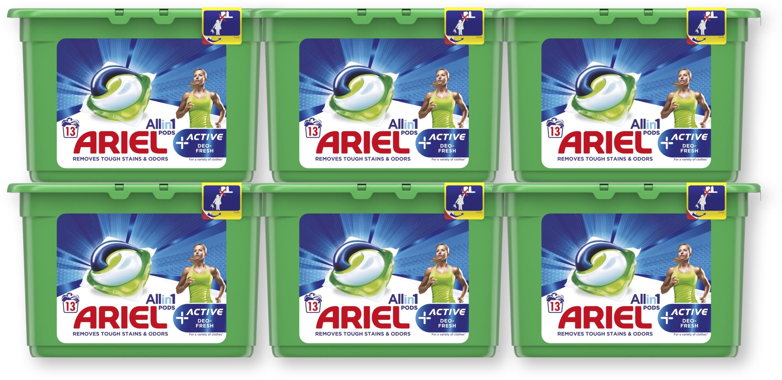 Ariel kapsułki do prania Active 6x13 szt