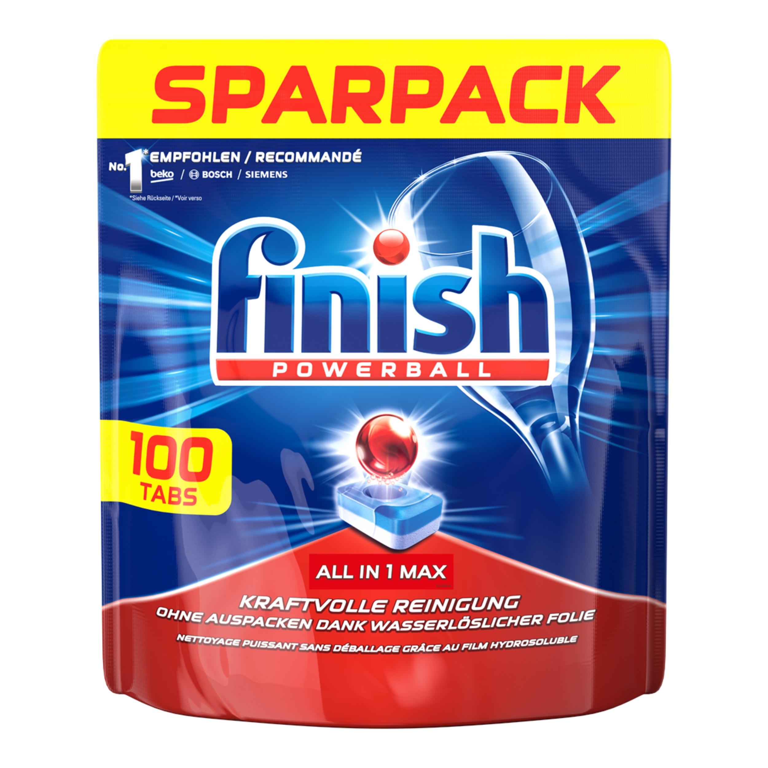 Таблетки для посудомоечной машины Finish All in One Max 100шт.