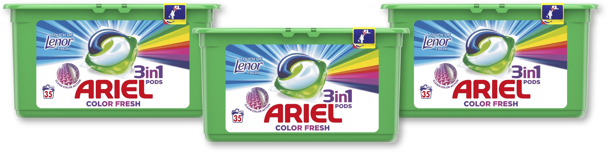 Капсулы Ariel Touch of Lenor Color Fresh 105 шт