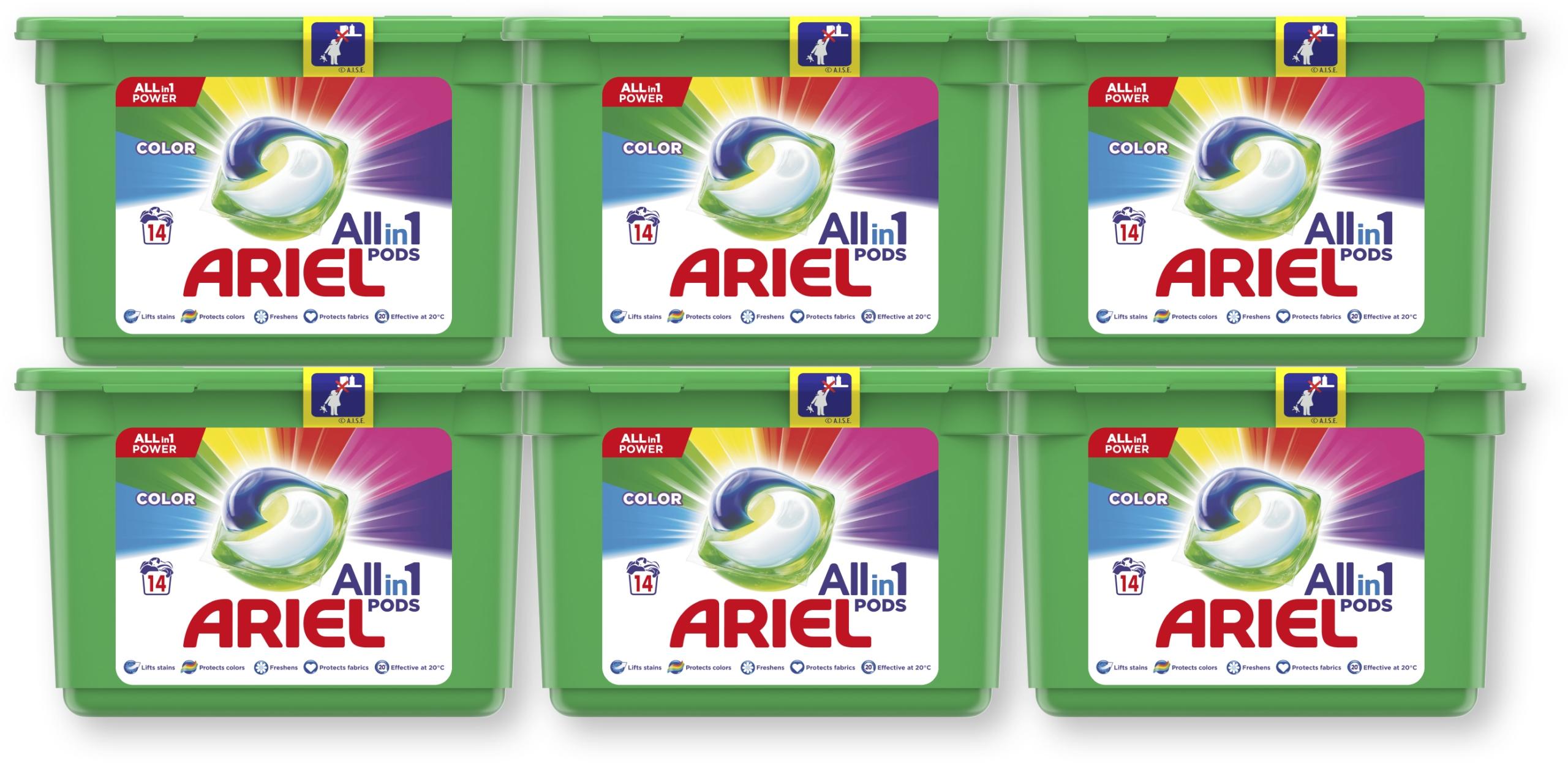 Ariel kapsułki do prania Color 6x14 szt