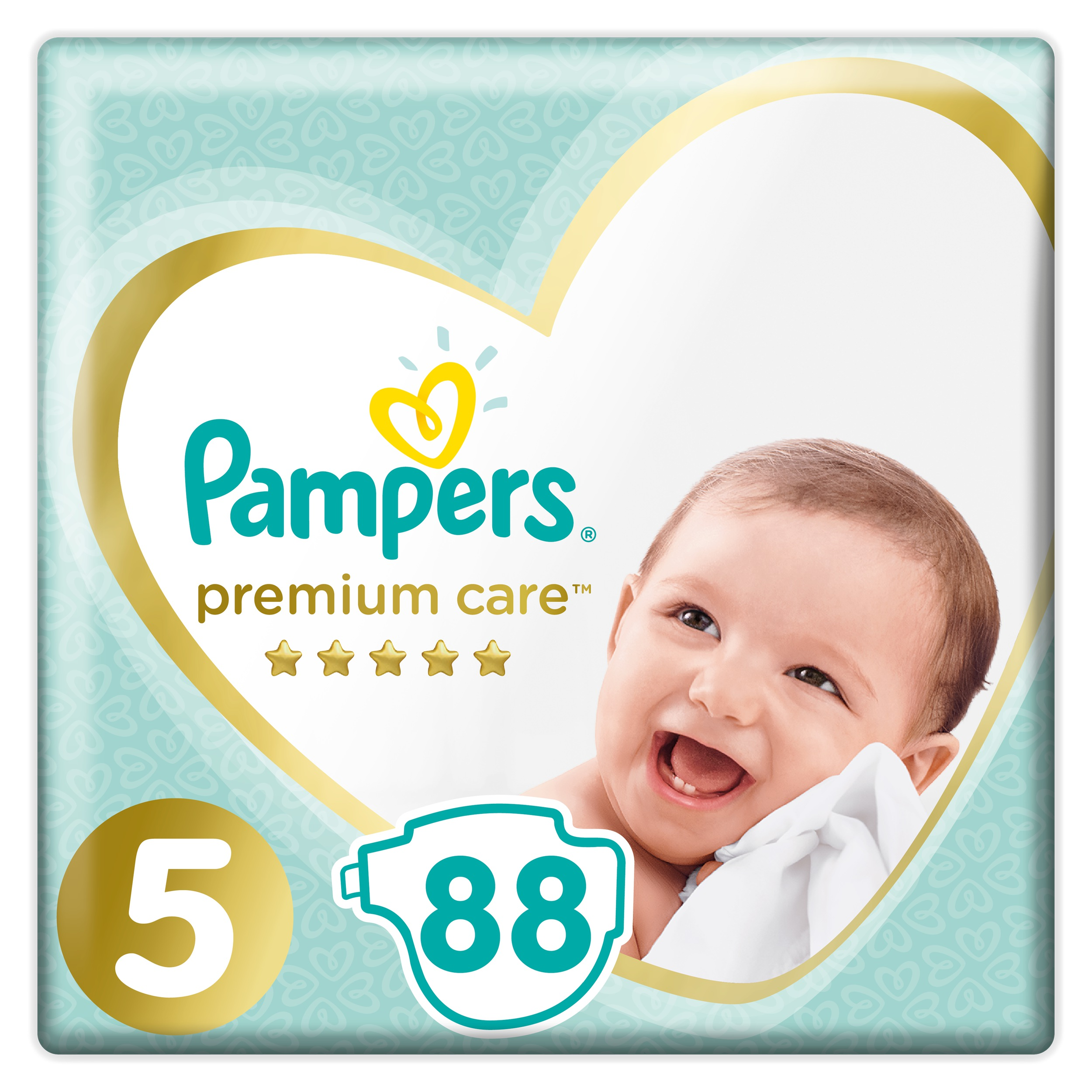 PAMPERS Подгузники Premium Care 5 Junior 88 шт.