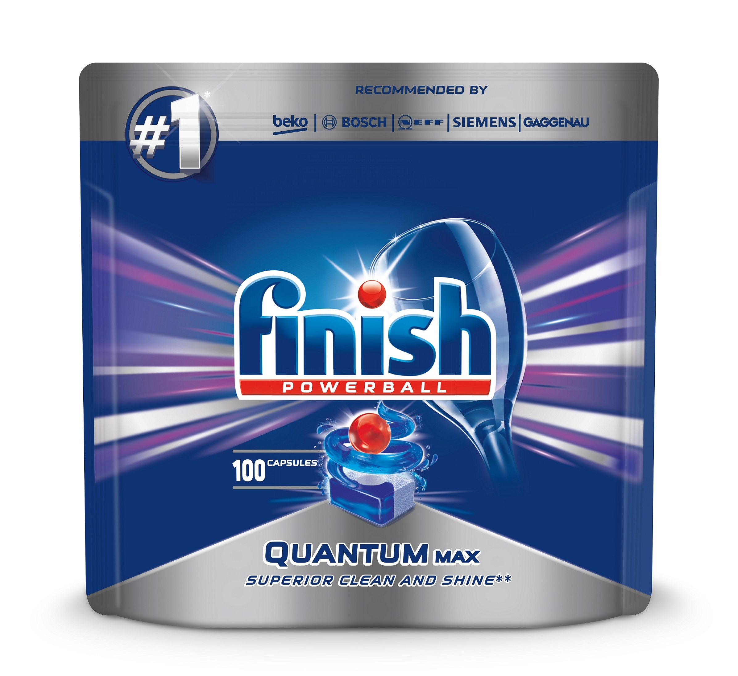 Finish Таблетки для посудомоечных машин Quantum Max 100 шт.