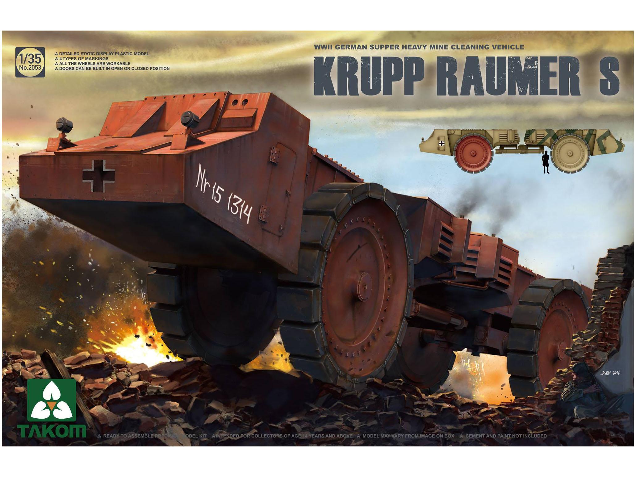 Pojazd minowy Krupp Raumer S model 2053 Takom