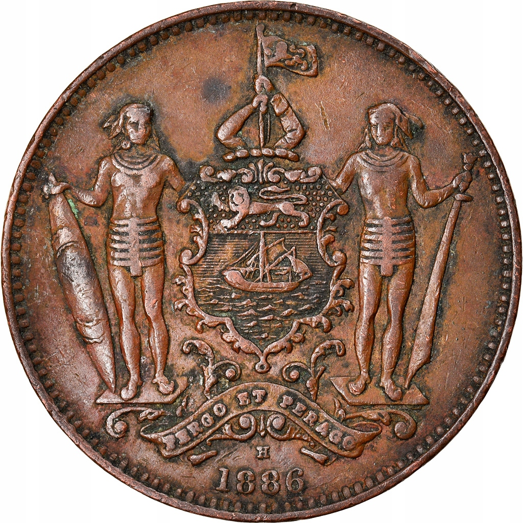 Монета, BRITISH NORTHERN BORNEO, Cent, 1886, He
