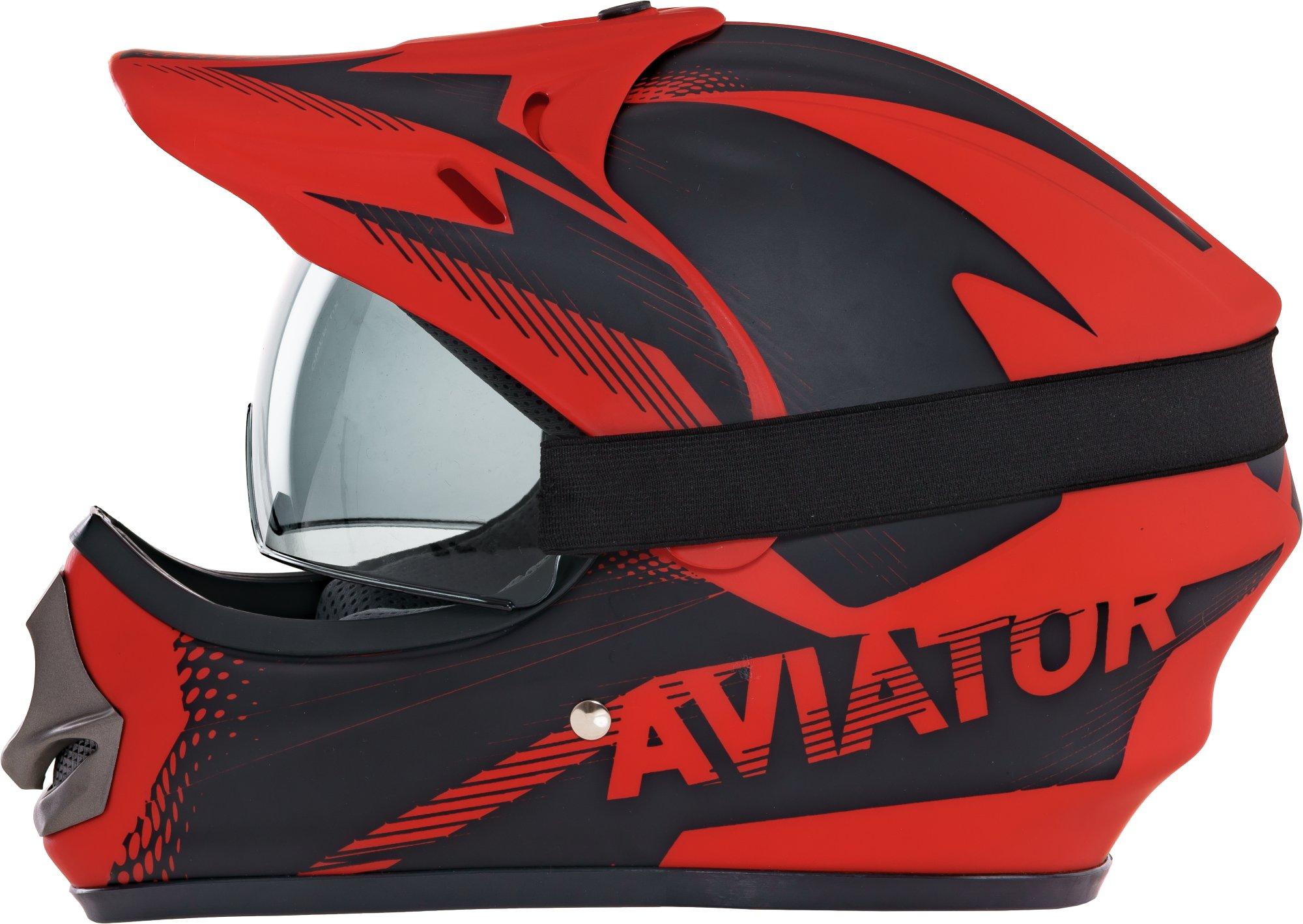 Kask Motocyklowy Dziecięcy Enduro Quada Z Goglami Czerwony +