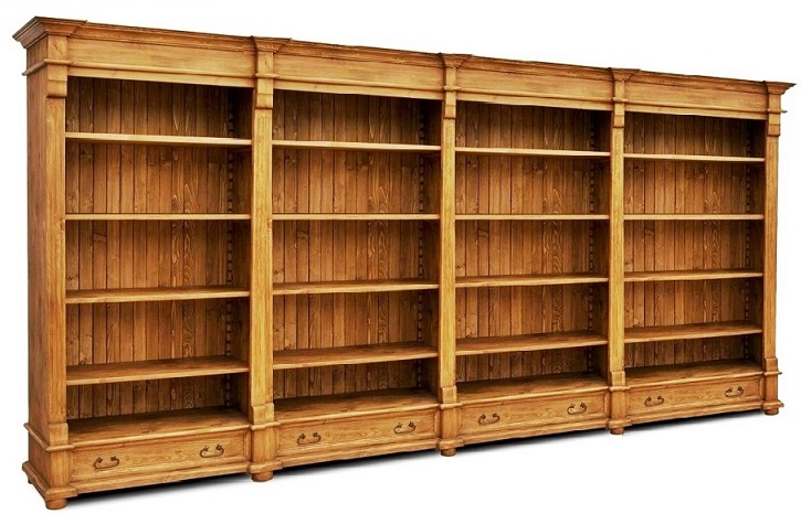 Drevená Knižnica Knižnica,knižnica RETRO