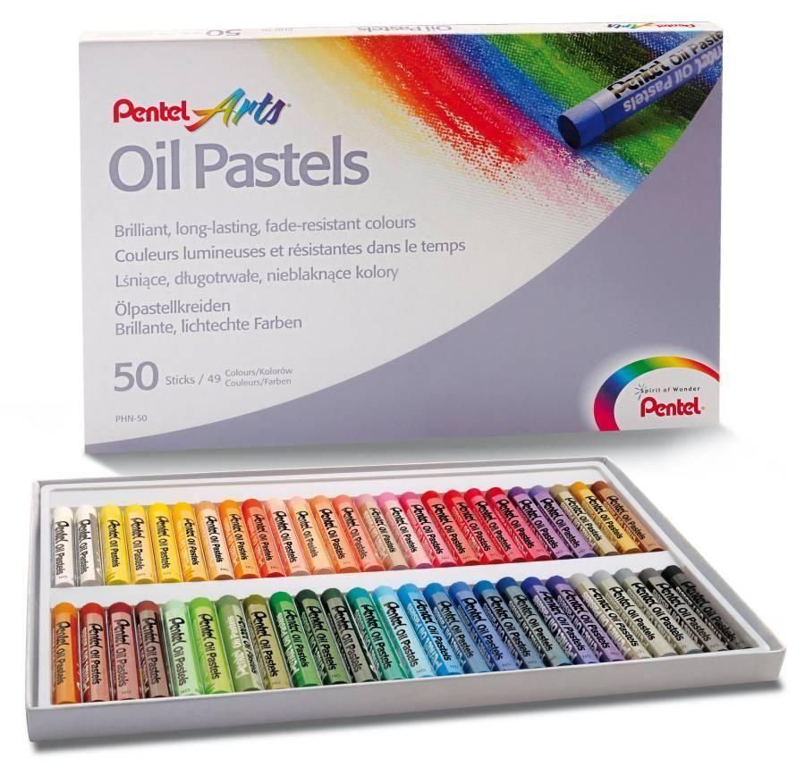 Item Oil pastels 50 colors PENTEL colored pencils 50s PHN-50