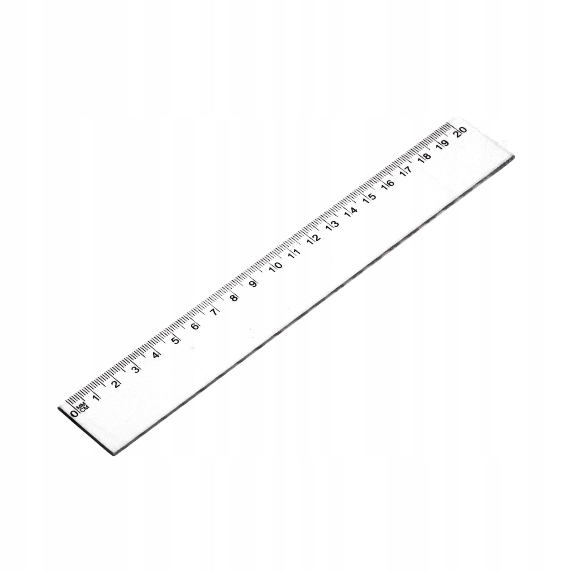 Item Ruler 20cm plastic d-896
