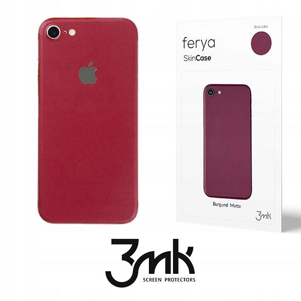 iPhone 7 - kolorowa skórka 3mk Skin Case Burgund