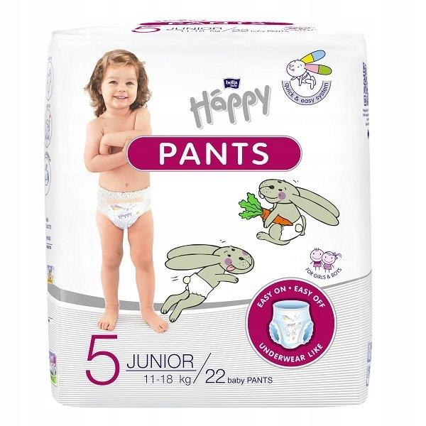 Pieluchomajtki Happy Pants Junior 11-18kg 22szt.