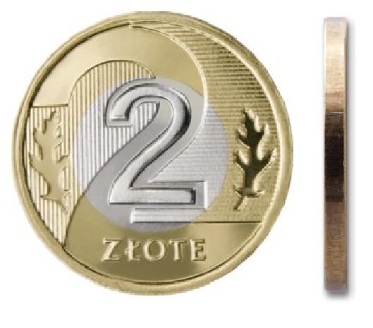 2 злотых монетного двора 2017 г.
