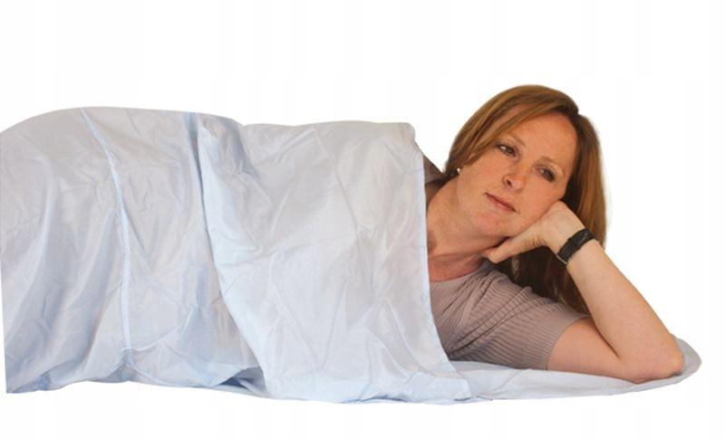 Spací vak linkovej lodnej prepravy posteľná Bielizeň Hodváb Múmiový TravelSafe