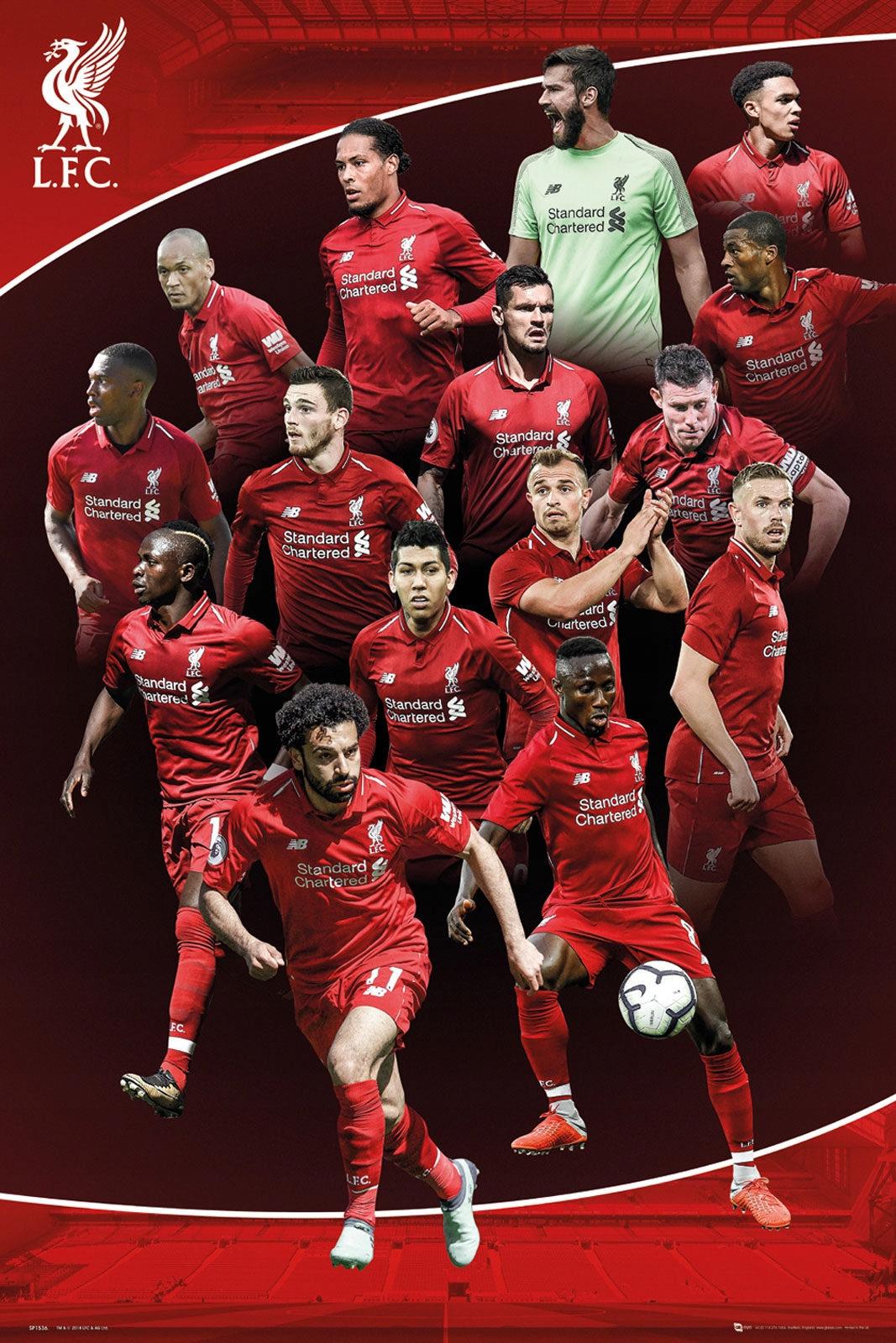Liverpool FC 18/19 - плакат 61x91,5 см