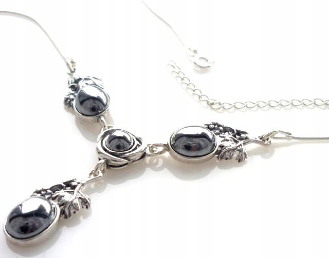 náhrdelník choker striebro silikónové hrozna