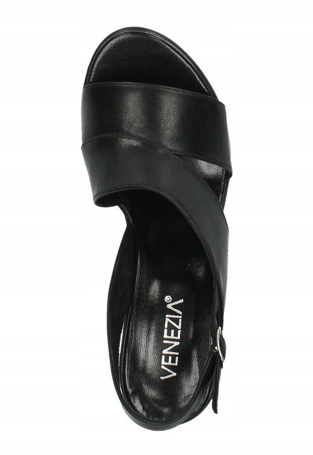 Venezia 2623782 SM NE sandały damskie czarne