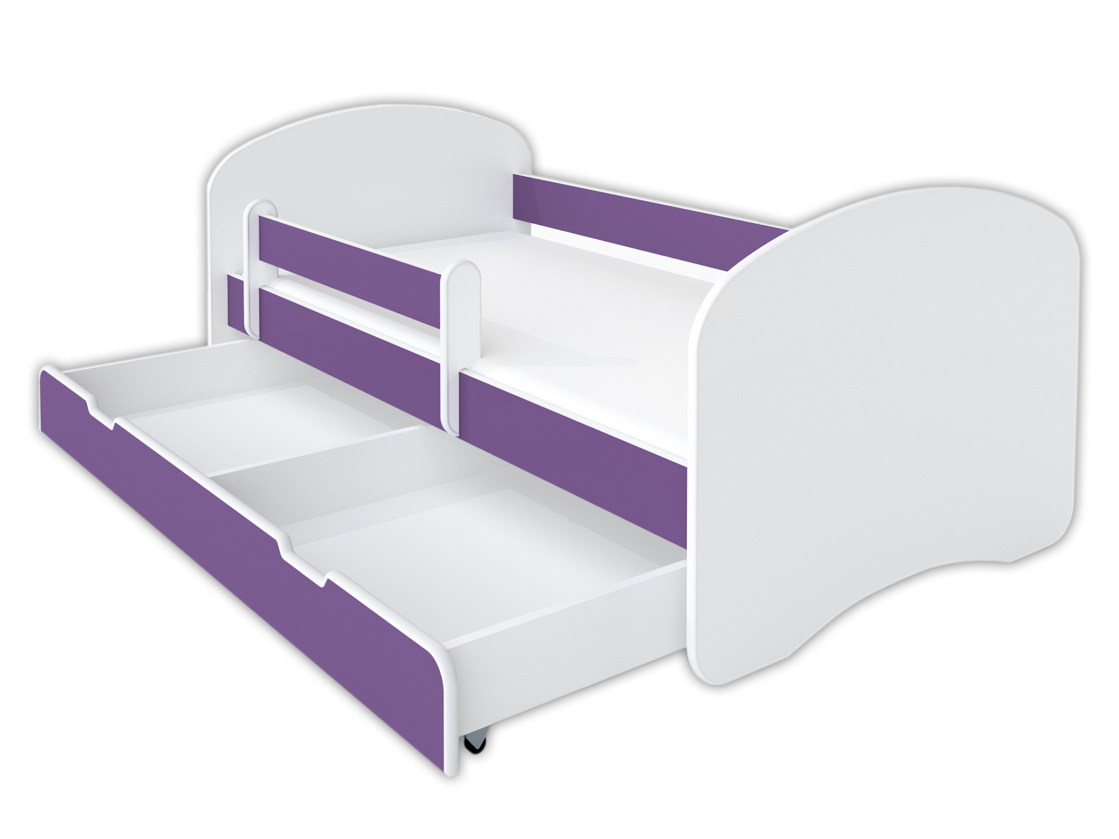 Detská posteľ 160/80-fialová, matrace KAMPANE
