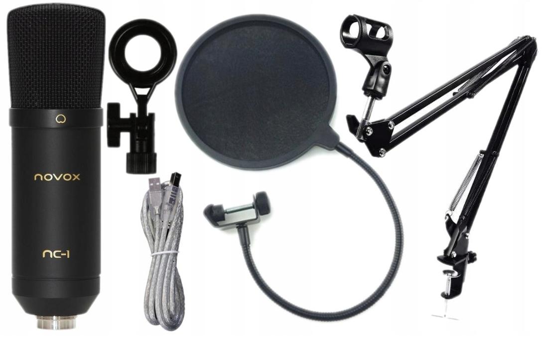 Item Novox NC-1 USB Microphone Black + Shoulder + pop filter