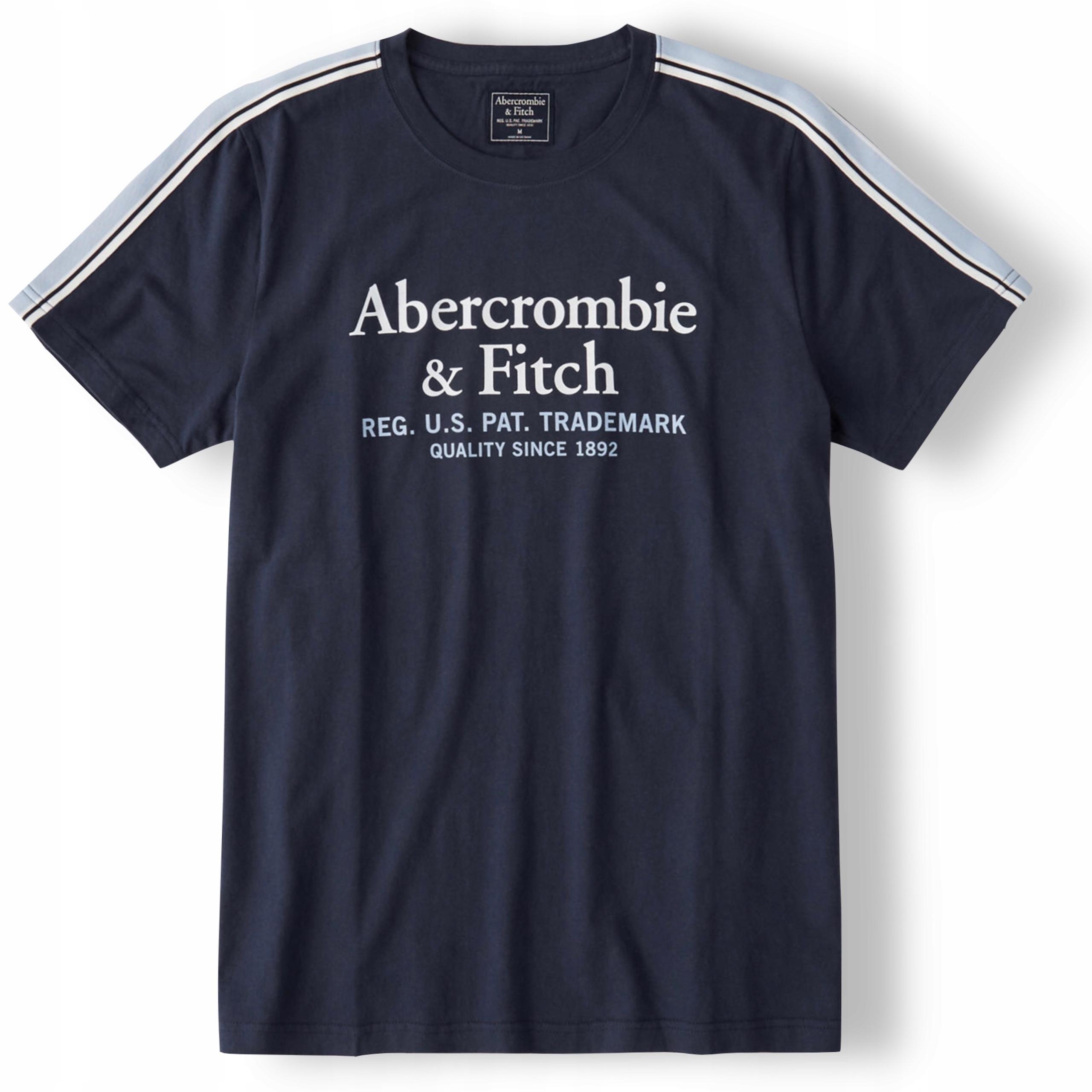 koszulka t-shirt granat ABERCROMBIE &FITCH XL