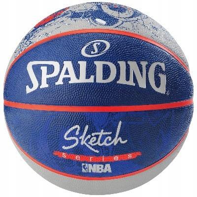 Lopta SPALDING NBA NÁČRT ROBOT veľkosť 7
