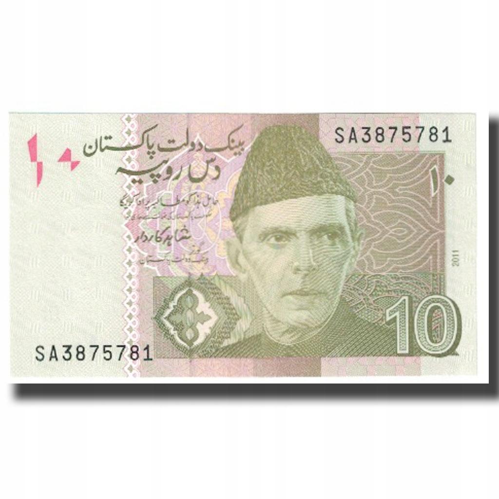 Банкнота, Пакистан, 10 рупий, 2011 г., без даты, КМ: 45