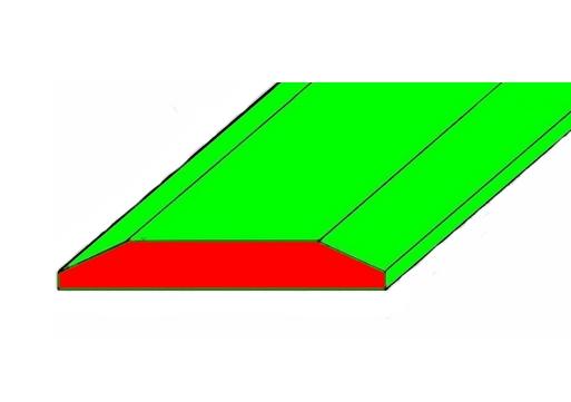 LEMIESZ NÓŻ DWUSTRONNY 406x35 mm 500HB
