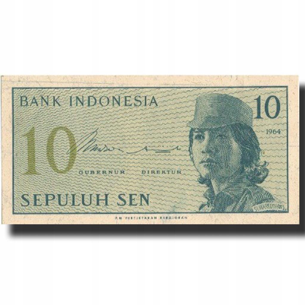 Банкнота, Индонезия, 10 сен, 1964, 1964, KM: 92a, UN
