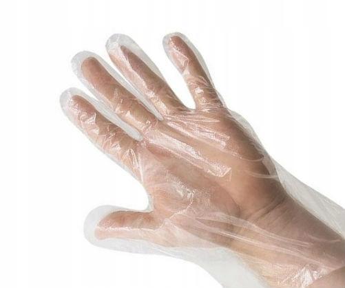 Перчатки полиэтиленовые L 100шт