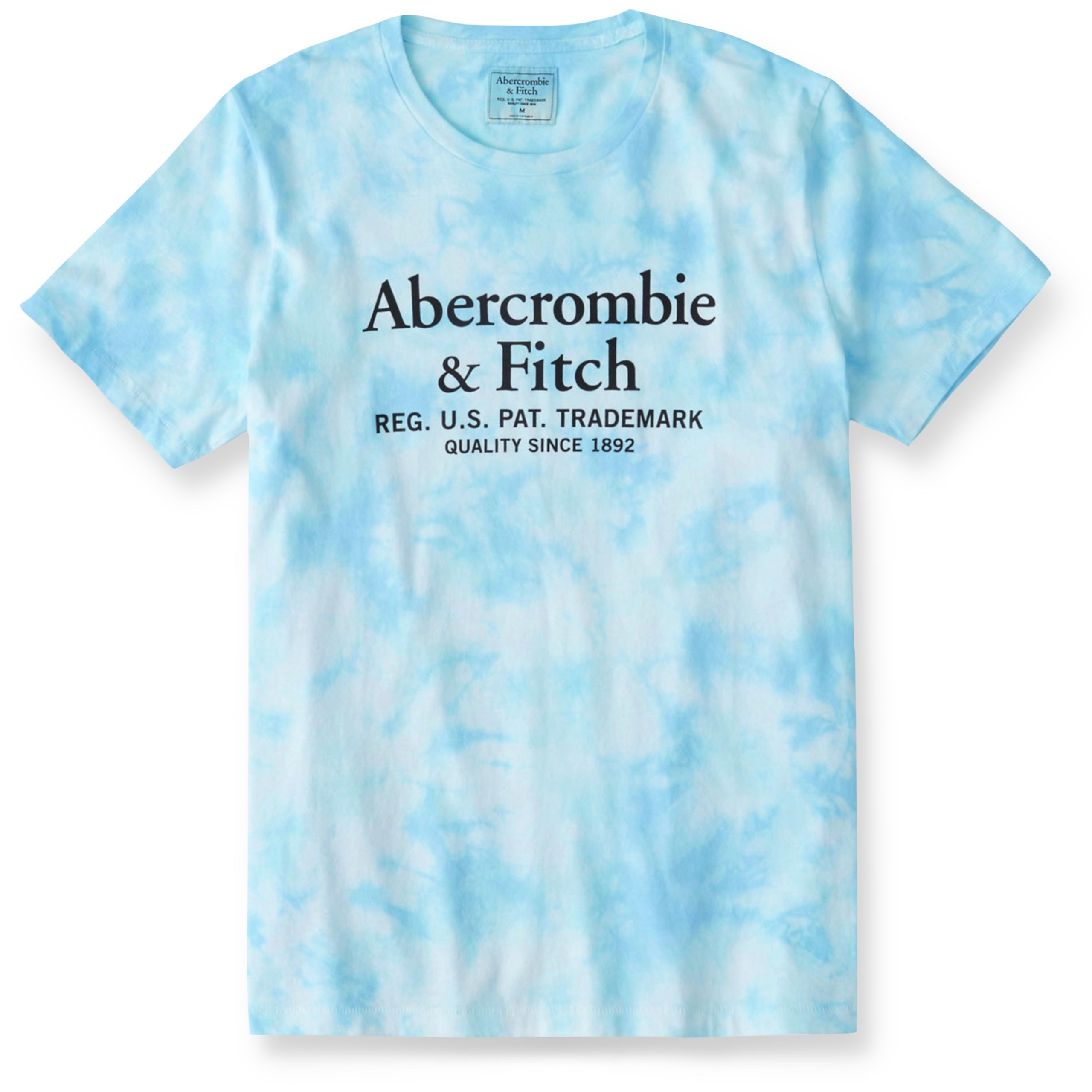 T-shirt logo niebieski ABERCROMBIE Hollister r. M