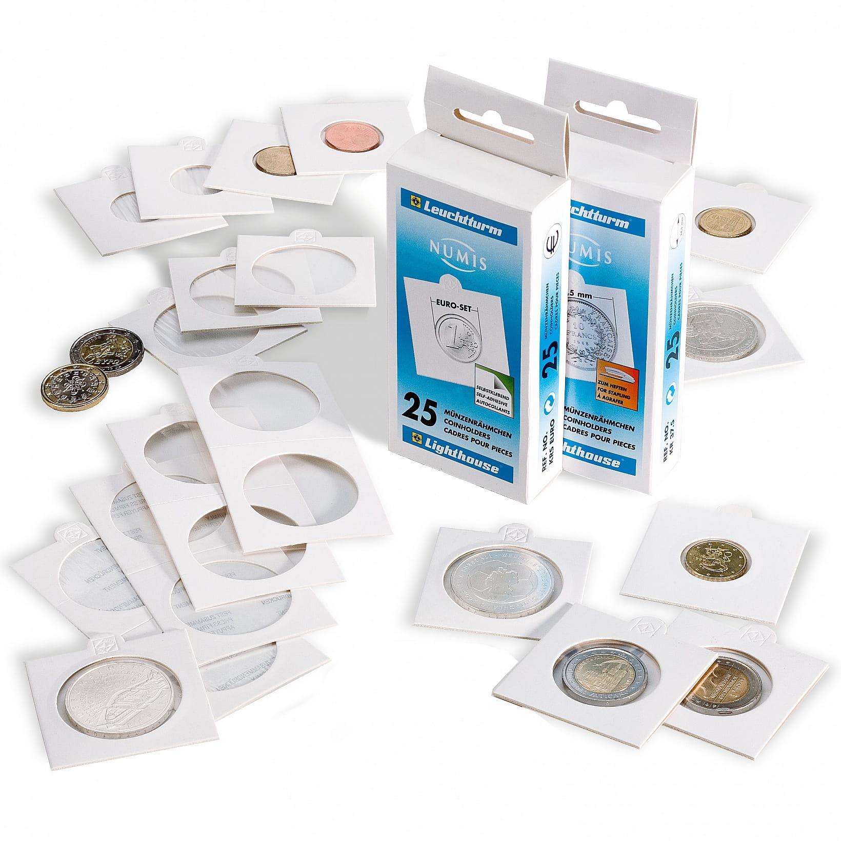 Holdery na monety - średnica 25 mm (25 szt)