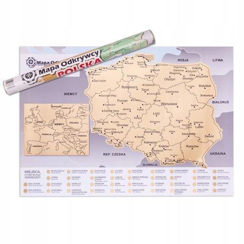 Купить КАРТА СКРЕТЧКАРТА ПОЛЬСКИЙ ПОЛЬСКАЯ ВЕРСИЯ КАРТА ПЕРВООТКРЫВАТЕЛЯ на Eurozakup - цены и фото - доставка из Польши и стран Европы в Украину.