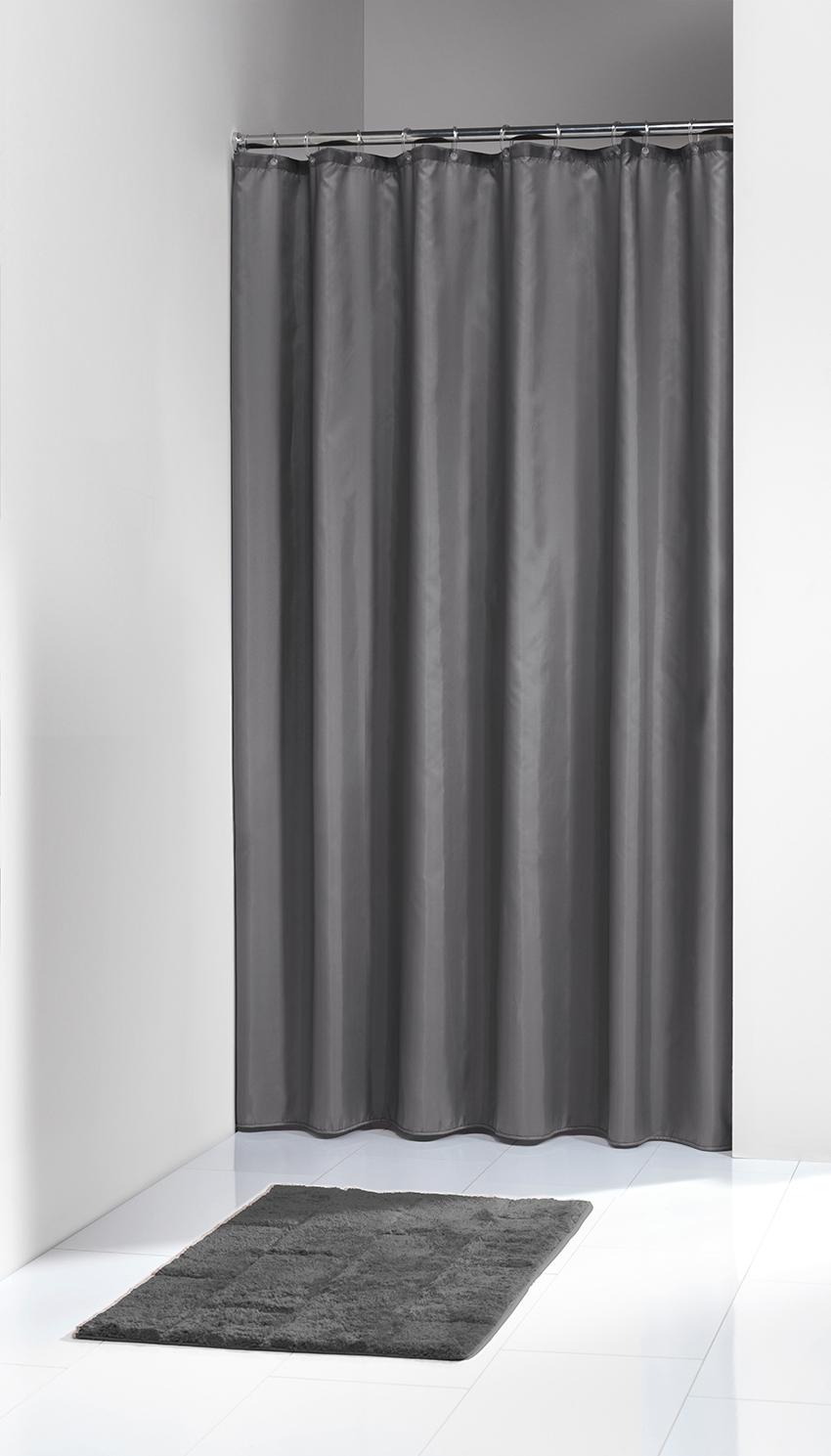 Sprchový záves Sealskin Madeira sivý 240x200