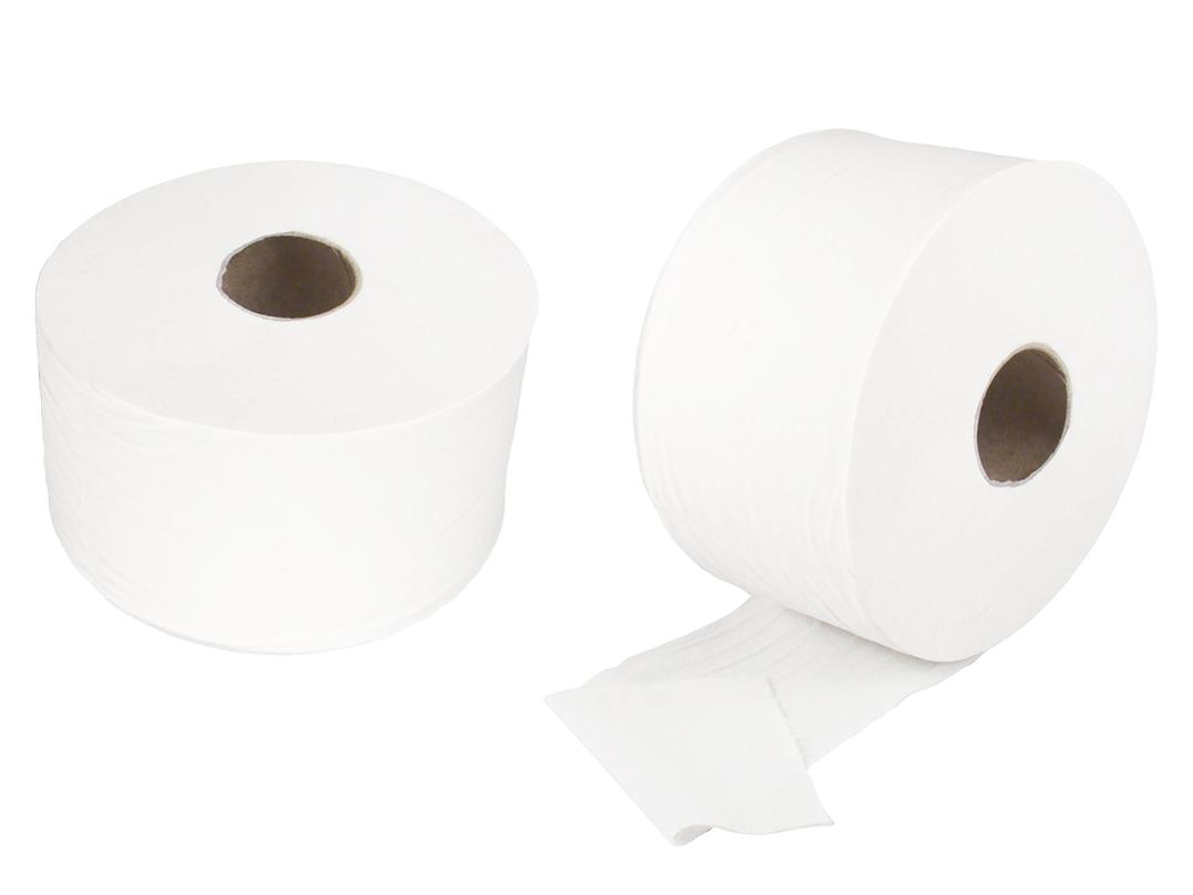 Туалетная бумага ДЖАМБО БЕЛАЯ ЦЕЛЛЮЛОЗА 2-СЛОЯ