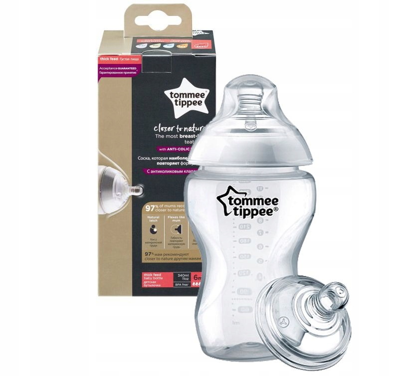 Item Tommee Tippee bottle 340 ml + soother porridge 6m+