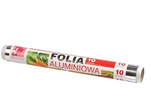 Фольга алюминиевая пищевая, рулон 10м
