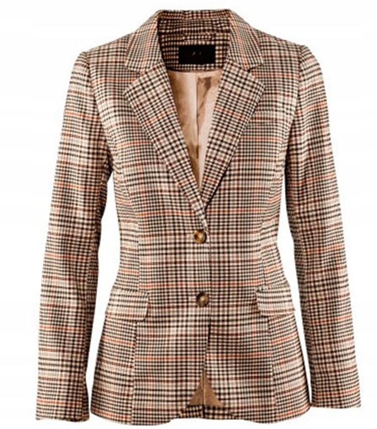 Elegantná dámska bunda, retro šek HIT S 36