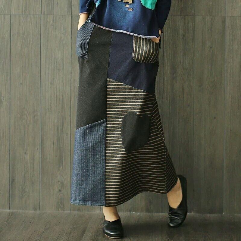 Spódnica Damska -Jeans LUX Fashion - Vintage