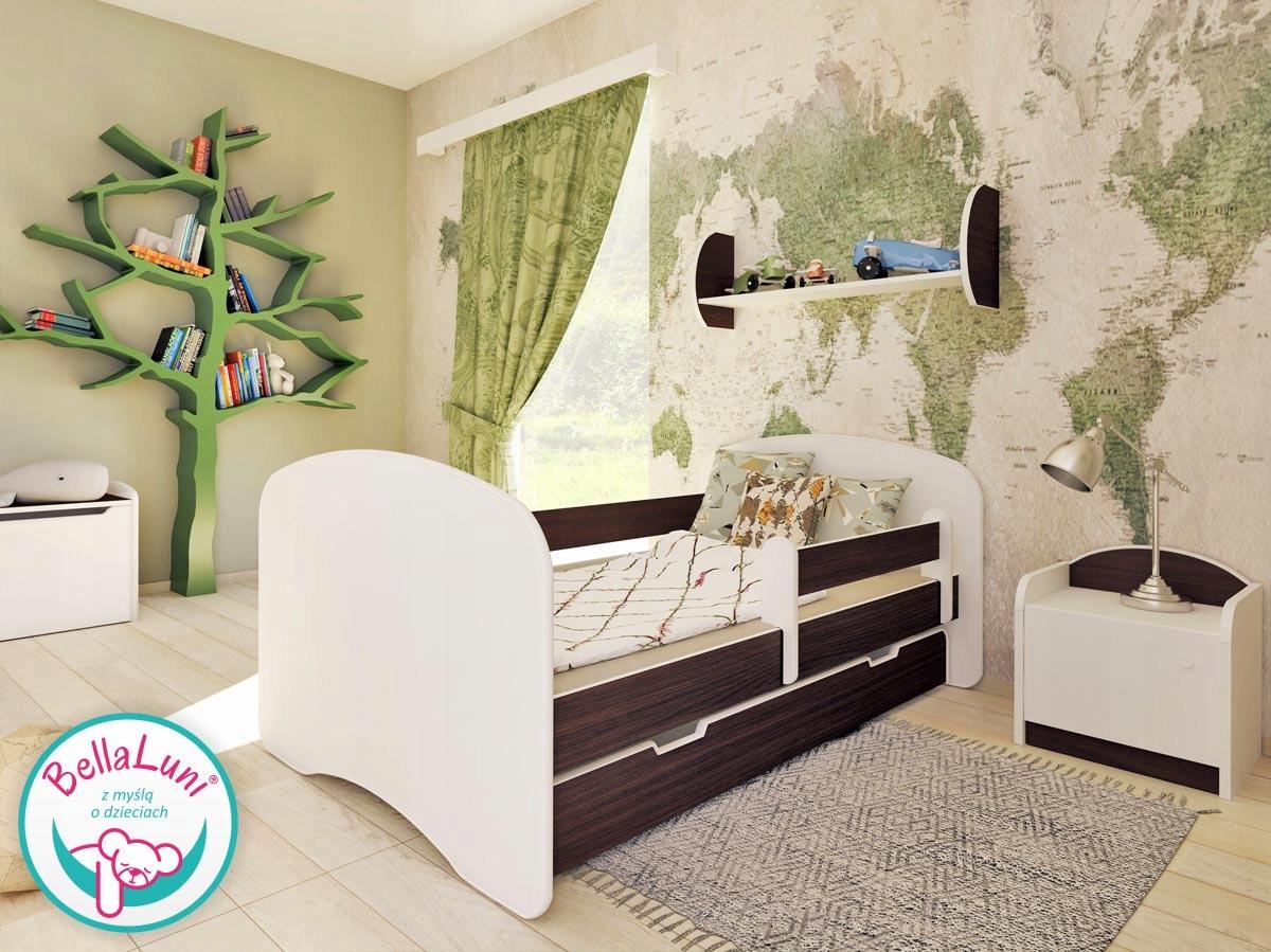 Łóżeczko BellaLuni 140/70 wenge, materac szuflada Kod producenta wygodne łóżko dla dziecka