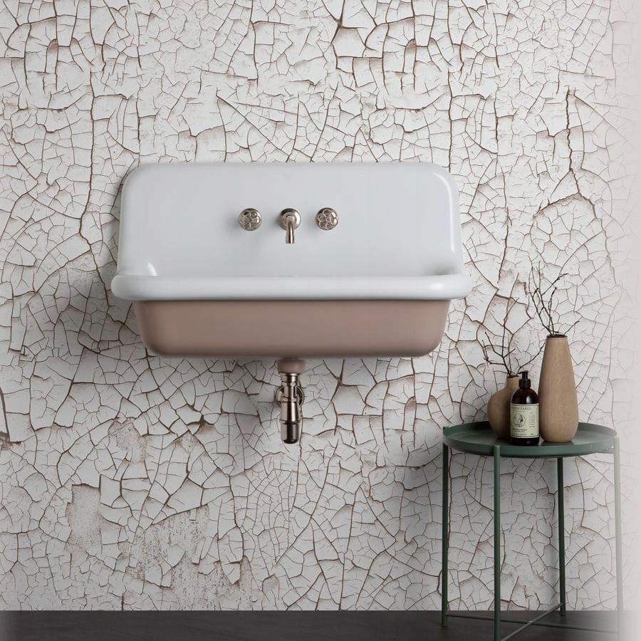 Umývadlo RETRO keramické nástenné 90x42x49cm